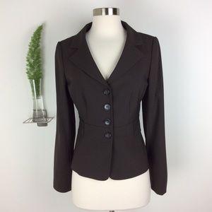 Ann Taylor Stretch Stylish Brown Blazer Size (4)